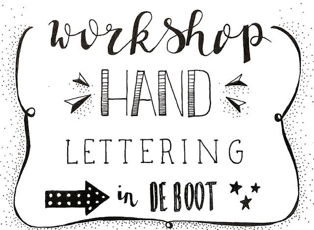 10 november Workshop Handlettering